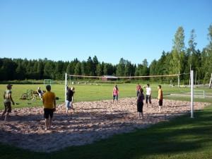 Nuorten lentopallo ottelu saunaillassa 2011